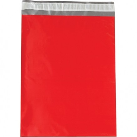 """Poly Mailers, Red, 12 x 15 1/2"""""""