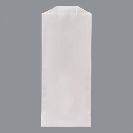 Gusseted Glassine Bags, 3 1/2 x 2 1/4 x 7 3/4""