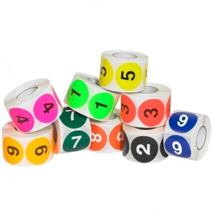 "Numbers (1-10) Circle Label Pack, 2"""