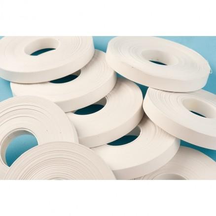 """Bag Sealing Tape, White, 3/8"""" x 245"""