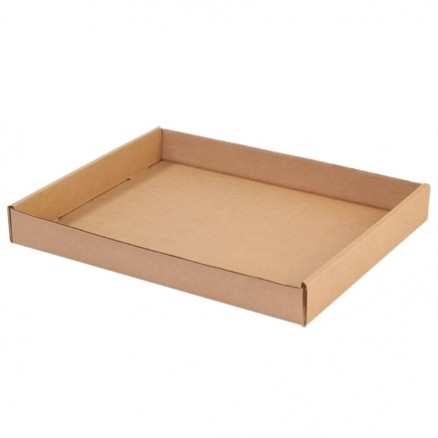 Corrugated Trays, Kraft, 15 X 12 X 1 3/4""