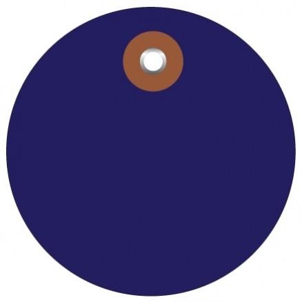 "Blue Plastic Circle Tags - 3"""