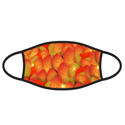 Double-Ply Face Mask, Fall Leaves