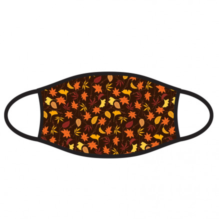 Double-Ply Face Mask, Autumn Leaves