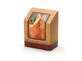 """Compostable Grab and Go Wrap Containers, 4 1/4 x 2 1/2 x 5 1/4"""""""