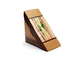 """Compostable Grab and Go Sandwich Containers, 6 17/20 x 2 17/20 x 4 17/20"""""""