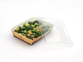 """Medium Grab and Go Food Containers, 4 7/10 x 6 3/10 x 2"""""""