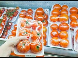 Green Tint Single Layer Food Overwrap Film, Produce, 15 x 5000
