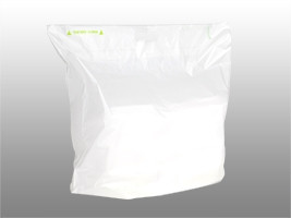 Fast Take® Tamper-Evident Unprinted Carryout Bag, 21 x 18 + 10 BG + 3 1/2 LP