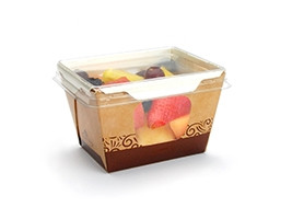 """Small Grab and Go Food Containers, 3 1/2 x 4 1/4 x 2 4/5"""""""