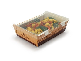"""Large Grab and Go Food Containers With Lid, 6 7/10 x 7 1/2 2"""""""