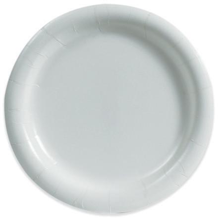 "Heavy-Duty Paper Plates, White, 9"""