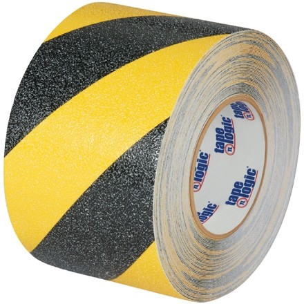 "Black/Yellow Heavy Duty Striped Anti-Slip Tape, 4"" x 60"
