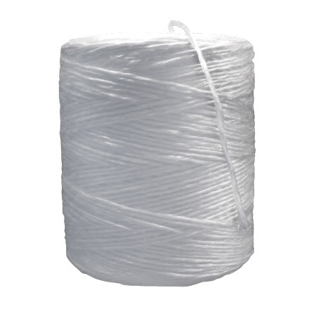 Polypropylene Twine, White, 3-Ply, 725 lb Tensile Strength