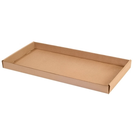 Corrugated Trays, Kraft, 24 X 12 X 1 3/4""