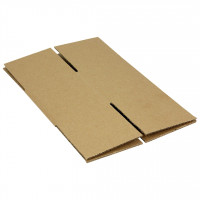 "Light Weight Kraft Boxes - 4"" X 4"" X 4"" - Full Overlap"