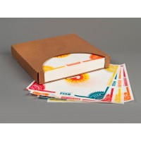 Dry Waxed Food Sheets, 4 Way Multi, 12 x 12""
