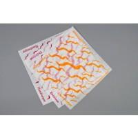 """Dry Waxed Food Sheets, Cheeseburger Wave, 12 x 12"""""""