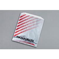 "Printed Foil Hamburger Bags, 6 x 2 x 8"""