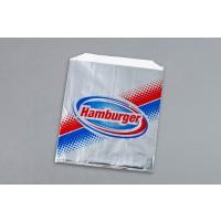 "Foil Hamburger Sandwich Bags, 6 x 3/4 x 6 1/2"""