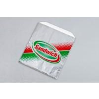"""Foil Sandwich Bags, 6 x 3/4 x 6 1/2"""""""