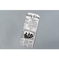 "White Doggie Bags - Newsprint Design, 5 x 2 3/4 x 12"""