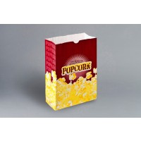 "Yellow Printed Popcorn Bags, 7 1/2 x 3 1/2 x 11"""