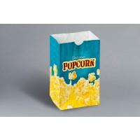 "Yellow Printed Popcorn Bags, 4 1/4 x 2 1/2 x 6 3/4"""