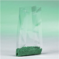 "Poly Bags, 4 x 2 x 12"", 1 Mil, Gusseted"