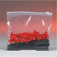 "Poly Bags, Slider, 8 x 6"", 3 Mil"