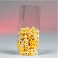 "Gusseted Polypropylene Bags, 4 1/2 x 3 1/4 x 13"", 1.5 Mil"