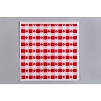 Red Checkered Paper Basket Liner Sheets, 12 x 12""