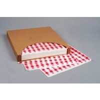 """Red Checkered Paper Basket Liner Sheets, 15 x 16"""""""