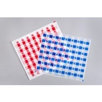 Blue Checkered Paper Basket Liner Sheets, 12 x 10 1/2""