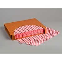 Grease Resistant Paper Sheets, Red Checkered, 12 x 9""
