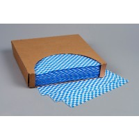 Grease Resistant Paper Sheets, Blue Checkered, 12 x 12""
