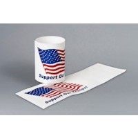 "U.S. Flag ""Support Our Troops"" Paper Napkin Rings, 4 1/4 x 1 1/2"""