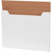 "Easy-Fold Mailers, Jumbo, White, 20 x 16 x 1"""