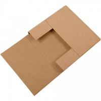 "Easy-Fold Mailers, Kraft, 12 1/2 x 12 1/2"", Multi-Depth Heights of 1, 1 1/2, 2, 2 1/2"""