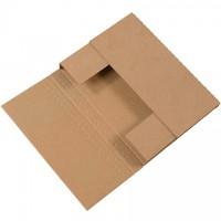 "Easy-Fold Mailers, Kraft, 12 1/8 x 9 1/8"", Multi-Depth Heights of 1/2, 1, 1 1/2, 2"""
