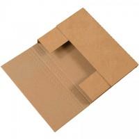 "Easy-Fold Mailers, Kraft, 12 x 9"", Multi-Depth Heights of 2, 2 1/2, 3"""