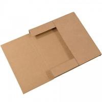 "Easy-Fold Mailers, Kraft, 12 1/2 x 12 1/2"", Multi-Depth Heights of 1/2, 1"""
