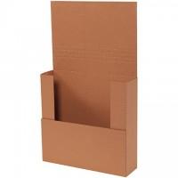 "Easy-Fold Mailers, Kraft, 12 x 11 1/2"", Multi-Depth Heights of 1 1/2, 2, 2 1/2, 3"""