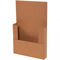 "Easy-Fold Mailers, Kraft, 11 3/4 x 10 1/2"", Multi-Depth Heights of 1 3/4, 2 1/4"""""