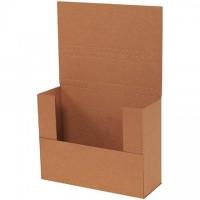 "Easy-Fold Mailers, Kraft, 11 1/8 x 8 5/8"", Multi-Depth Heights of 1/2, 3, 3 1/2, 4"""