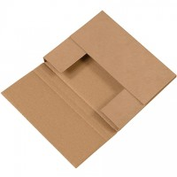 "Easy-Fold Mailers, Kraft, 10 1/4 x 8 1/4"", Multi-Depth Heights of 5/8, 1 1/4"""