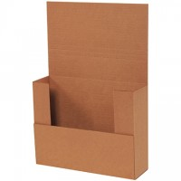 "Easy-Fold Mailers, Kraft, 11 x 8 1/2"", Multi-Depth Heights of 2, 2 1/2, 3"""