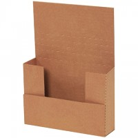 "Easy-Fold Mailers, Kraft, 7 1/2 x 5 1/2"", Multi-Depth Heights of 1/2, 1, 1 1/2, 2"""