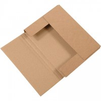 "Easy-Fold Mailers, Kraft, 11 1/8 x 8 5/8"", Multi-Depth Heights of 1/2, 1"""
