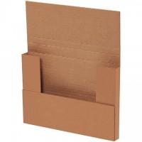 "Easy-Fold Mailers, Kraft, 9 5/8 x 6 5/8"", Multi-Depth Heights of 5/8, 1 1/4"""